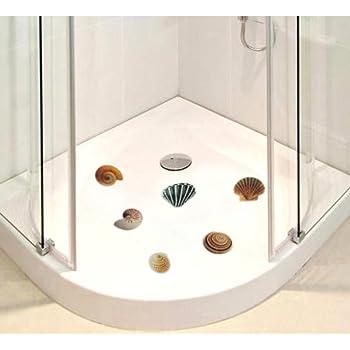 anti rutsch sticker f r duschen 6 er set motiv muschel badewanne dusch bad baumarkt. Black Bedroom Furniture Sets. Home Design Ideas
