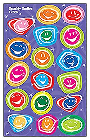 Sparkly Smiles Stickers, Iridescent Foil, 34-46/PK, Assorted, Sold as 1