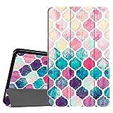 Fintie Hülle für Samsung Galaxy Tab A 10.1 - Ultra Schlank Superleicht Ständer Slim Shell Schutzhülle mit Auto Schlaf/Wach Funktion für Samsung Galaxy Tab A 10,1 Zoll T580N / T585N, Colorful Mosaic