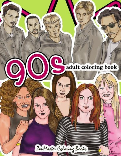 90s Adult Coloring Book
