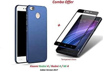 like it grab it Silicone Grip Ultra Light Carbon Fiber Armor Shockproof Brushed Back Cover for Xiaomi Redmi 4 (Blue)