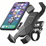 Portronics MoBike POR-1117 Unbreakable & Universal Mobile Phone Holder for Bike, Cycle, Scooty, Motorcycle, Ideal for Maps an