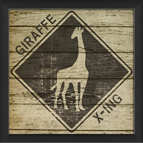 The Artwork Factory Safari Giraffe Xing Framed Print by Spicher & Co