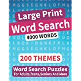 200 Word Search Puzzles For adults: Large Print Word Search Puzzle Book For Adults, Teens, Seniors And More | 200 Themed…
