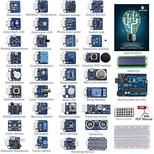 Preisvergleich Produktbild SunFounder ultimatives UNO R3 Sensor Kit V2.0 für Arduino UNO R3 Mega2560 Mega328 Nano
