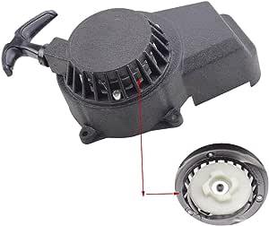 Goofit Schwar Easy Pull Kickstarter Zubehör Aluminium Seilzugstarter Montage Für 2 Takt 47cc 49cc Pocketbike Dirtbike Auto