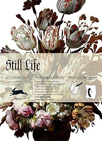 Still Life, Volume 59 : 12 grandes feuilles de papiers cadeaux & créatifs de haute qualité