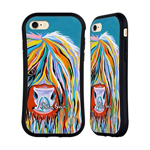 Ufficiale Steven Brown Katie Mccoo Mucca Delle Montagne 2 Case Ibrida per Apple iPhone 7 / iPhone 8 Katie Mccoo