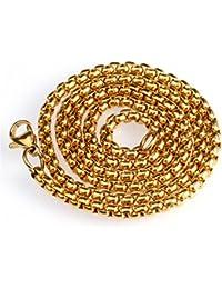 collier homme grosse perle acier