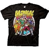 Ripple Junction Big Bang Theory Bazinga Group Comic Heros Adult T-Shirt