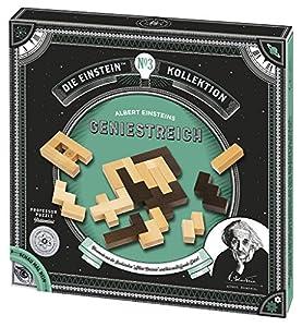 Moses. Verlag GmbH 92098Albert Einstein Genie streich Professor Puzzle Paciencia Juego de Madera, 12tareas en un Juego, Multicolor