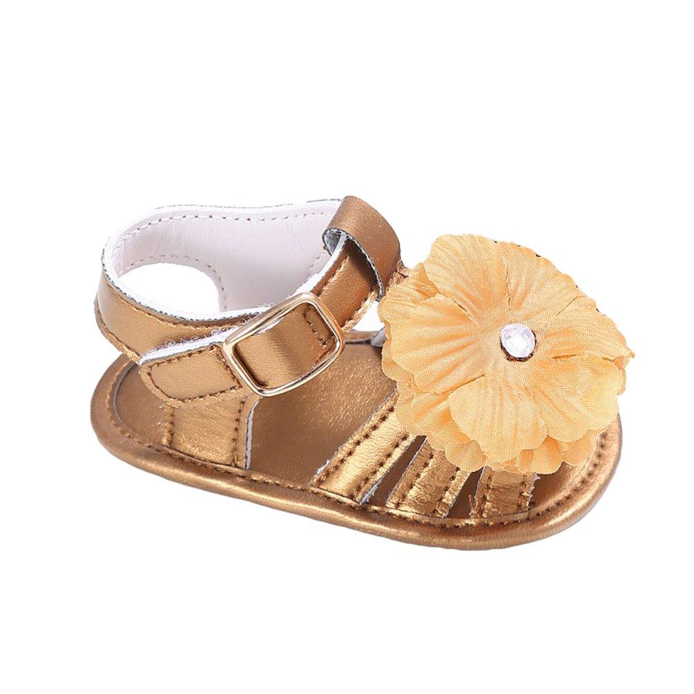 CHENGYANG Bébé Filles Fleur Décoration Sandales Plates Anti-dérapante  Chaussures Premiers pas: Amazon.fr: Chaussures et Sacs