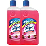 Lizol Disinfectant Surface & Floor Cleaner Liquid, Floral - 625 ml (Pack of 2)