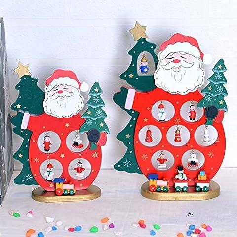 Ornamenti di Natale in legno creativo decorazioni di Natale albero di Natale decorazione ornamenti Babbo Natale bambole per le decorazioni di Natale anziane,Regina