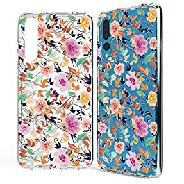 NALIA Motif Case compatible with Huawei P20 Pro, Pattern Design Silicone Back Cover Protector Soft Skin, Crystal Gel Shockproof Smart-Phone Bumper, Slim Transparent Protective