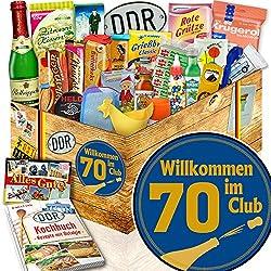 Wilkommen im Club 70 ++ Geschenke 70. Geburtstag ++ Box 24x Allerlei DDR