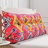 uus Rotes Dreieck-Sofa-Kissen-modernes Bett-Kopf-Kissen-ergonomisches Entwurfs-Lehnen-und Taille-umweltsmäßig waschbare Abdeckung mit 3D hoch-elastischer Perlen-Baumwollfüllung ( größe : 180cm(6 Buttons) )