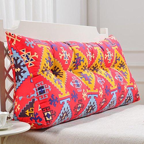uus Coussin de canapé en triangle rouge Coussin de tête en lit moderne Design ergonomique Dossier et ceinture Coussin lavable en environnement avec coussin en coton à haute élasticité 3D ( taille : 180cm(6 Buttons) )