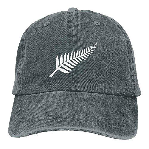 New Zealand Maori Fern Adjustable Cotton Hat Asphalt