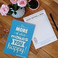 MEINE NOTIZEN & IDEEN - praktisches Notizbuch, Ringbuch in DIN A5 mit 52 Blättern + motivierenden Sprüchen und Zitaten auf jeder Seite - perfekt für Deine Notizen in Uni, Büro, Schule, Alltag