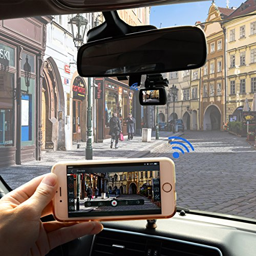 TOGUARD In auto Dash Cam together with GPS WIFI extensive HD 1080P little auto Dash Camera Parking MonitorLDWSG SensorWDRLoop RecordingSupport CPL standalone out auto Driving Recorders