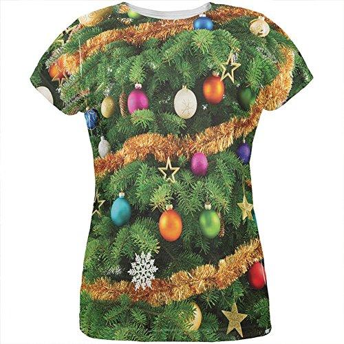 �m aller Damen-T-Shirt Multi MD (Womens Weihnachtsbaum Kostüme)