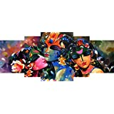 SAF Set of 5 couple Modern Art UV Textured Self Adhesive Painting 42 Inch X 18 Inch multicolor