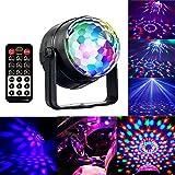 Discokugel Party Licht mit Fernbedienung, RGBWP Musik und...