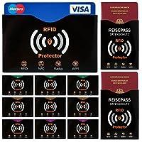 12er Set RFID-/NFC-Schutzhüllen Scheckkarten + Reisepass
