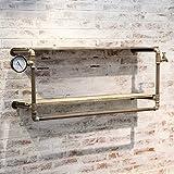 Wandregal Wandregal Industrie, Ablage, Wandmontage, Bücherregal, Holz, Vintage, Retro-Look, Natur Wandhalterung Ablage (Farbe : C)