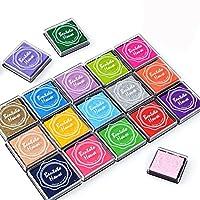 Txyk 20 Colors Rainbow Finger Ink pad for kids Craft Ink Pad Stamps Partner Diy Color 4 * 4 cm