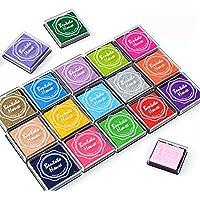 Txyk 20 Colores Rainbow Finger Almohadilla de Tinta para niños Craft Ink Pad Stamps Partner DIY Color 4 * 4 cm