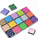 Txyk 20 Colori Rainbow Finger Ink Pad per Bambini Craft Ink Pad Stamps Partner DIY Color 4 * 4 cm