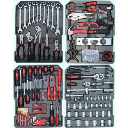 186 tlg. Werkzeug-Set mit RINGRATSCHEN im Trolley-Koffer Werkzeugkoffer CV - 2