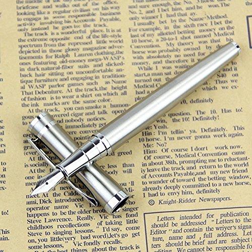 Füllhalter Füllfederhalter Füller Hohe Präzision [13.3cm] Silber Füllfederhalter-Set für Führungskräfte Klassischer Füller Tintenkonverter