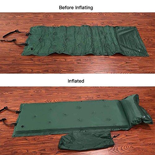 TOMSHOO Selbstaufblasbare Camping Luftmatratze Isomatte mit Kopfkissen - 5