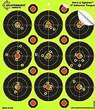 Confezione da 25pezzi, 3'Stick & Splatter' adesivo splatterburst Target–vedere istantaneamente il Shots Burst luminoso fluorescente giallo urto.