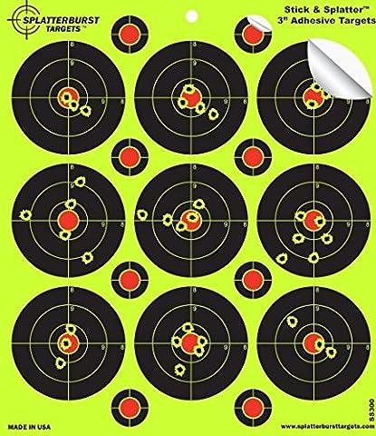 """25Pack–7,6cm Splatterburst """"Stick & Splatter"""" Reaktiv Klebstoff Ziel für das Schießen - Leicht sehen Sie (Bb Gun Target)"""