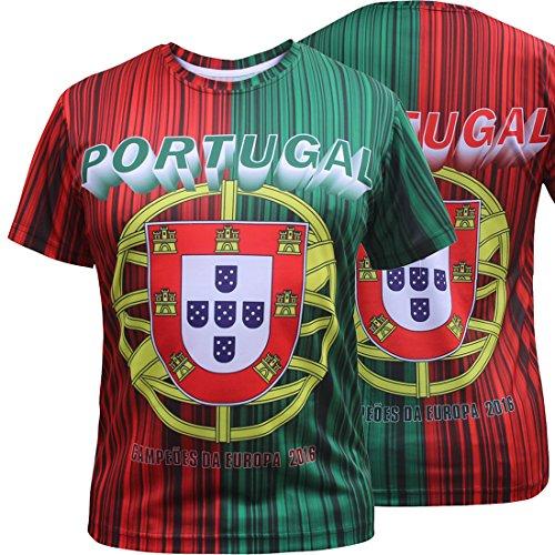 Portugal Camisetas de Jersey Hombres Tamaño: 3XL