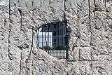 Pixblick - Loch in DDR Mauer - Hochwertiges Wandbild - Poster 120 x 80 cm
