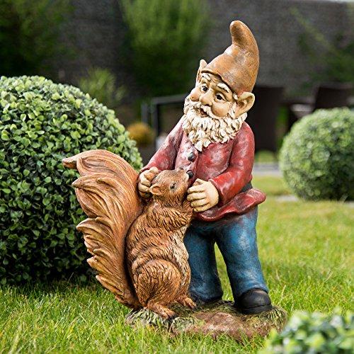 Royal Gardineer Gartenzwerg Edi mit Eichhörnchen, handbemalt - 2