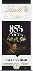 Lindt Excellence Tableta de Chocolate Negro 85% Cacao, 100g