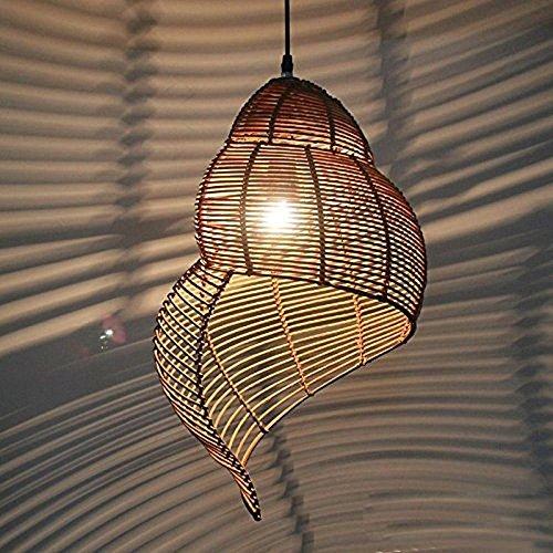 YanCui@ Dekorative Kronleuchter Pastorale Rattan Zimmer Decke Anhänger Lampen, Garden Studie Raum Bar Cafe Shops , trumpet , a
