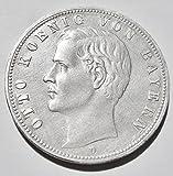 orig. 5 Mark Silbermünze 1901 D Otto König von Bayern - ss+/vz - Münze - Jäger Nr.46
