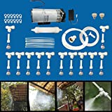 #6: Misting System Complete DIY Kit 12 Nozzles + Water Mist Pump + Inline water Filter+ Water Connector +Ties+ Clamps+End Plug+Nozzle plug