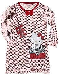 Chemise de nuit manches longues trompe-oeil fille Charmmy kitty 2 coloris 3 à 8 ans
