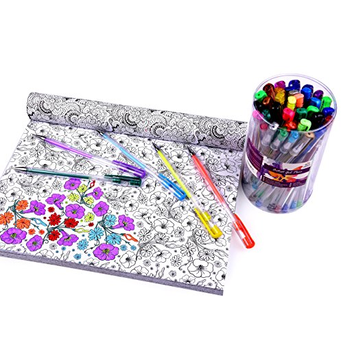 artist-gel-pen-set-40-rich-colored-ink-pens-for-adult-coloring-drawing-and-art-professional-quality-
