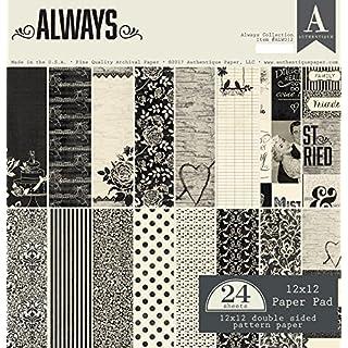 Authentique Paper Always 12x12 Paper Pad, 12-x-12-Inch