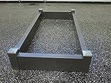 Grabeinfassung / Grabumrandung - Variante 2 / Größe 120 x 60 cm - Urnengrab aus Aluminium
