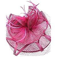 Flower-Ager Mujer Acrílico Horquilla - Sombrero,Fuchsia